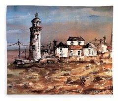 F 708 Loophead Lighthouse, Clare Fleece Blanket