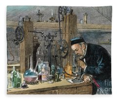 Louis Pasteur (1822-1895) Fleece Blanket