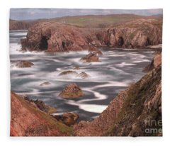 Mangersta Coastline Fleece Blanket