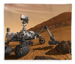 Mars Rover Curiosity, Artists Rendering Fleece Blanket