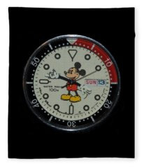 Mickey Mouse Watch Face Fleece Blanket