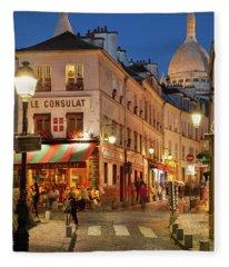 Montmartre Twilight Fleece Blanket