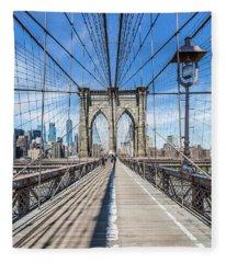New York City Brooklyn Bridge Fleece Blanket