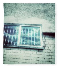 Old Window Bars Fleece Blanket