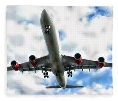 Passenger Plane Fleece Blanket