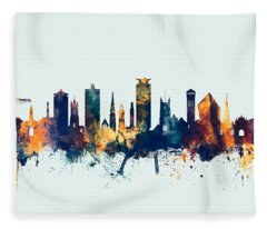 Plymouth England Skyline Fleece Blanket