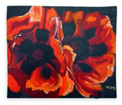 2 Poppies Fleece Blanket