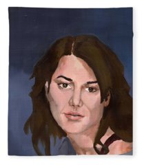 Portrait Fleece Blanket
