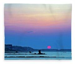 Provincetown Dawn Fleece Blanket