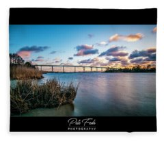 Pungo Ferry Bridge Fleece Blanket
