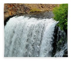 Rainbow Falls 23 Fleece Blanket