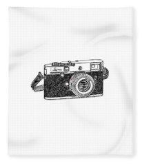 Rangefinder Camera Fleece Blanket