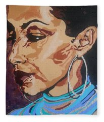 Sade Adu Fleece Blanket
