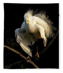 Snowy Beauty Fleece Blanket