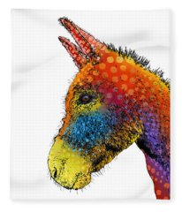 Spotted Donkey Fleece Blanket