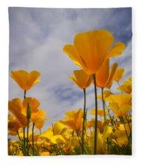 Springtime Poppies  Fleece Blanket