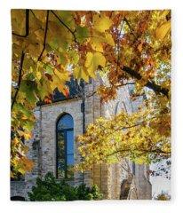 Stone Chapel Fall Fleece Blanket