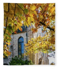 Stone Chapel Fall Fleece Blanket