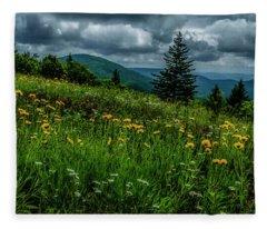 Summer Flowers Highland Scenic Highway Fleece Blanket