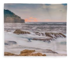 Sunrise Seascape And Headland Fleece Blanket