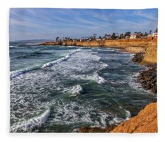 Sunset Cliffs 2 Fleece Blanket