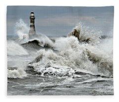 The Angry Sea Fleece Blanket