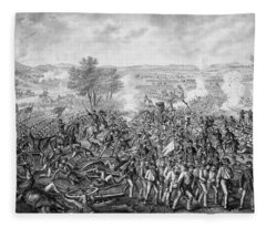 The Battle Of Gettysburg Fleece Blanket
