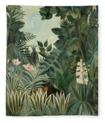 The Equatorial Jungle Fleece Blanket