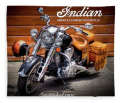 The Indian Motorcycle Fleece Blanket