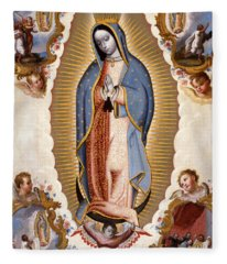 The Virgin Of Guadalupe  Fleece Blanket