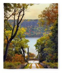 The Vista Steps Fleece Blanket
