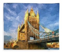 Tower Bridge In London Fleece Blanket