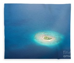 Uninhabited Island In The Pacific Fleece Blanket