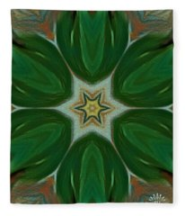 Watercolor Flower Art Fleece Blanket