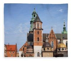 Wawel Cathedral In Krakow Fleece Blanket