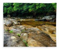 Williams River Summer Rain Fleece Blanket