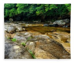 Williams River Summer Rain Fleece Blanket