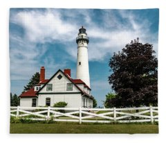 Wind Point Lighthouse Fleece Blanket