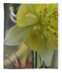 Yellow Flower 4 Fleece Blanket