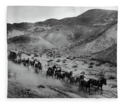 20 Mule Team Borax Hauling - Death Valley C. 1899 Fleece Blanket
