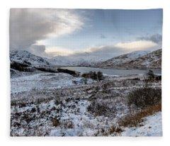 Trossachs Scenery In Scotland Fleece Blanket