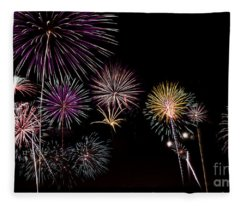 2013 Fireworks Over Alton Fleece Blanket