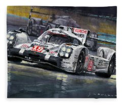 Automotive Art Fleece Blankets