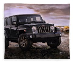 2016 Jeep Wrangler 75th Anniversary Model Fleece Blanket