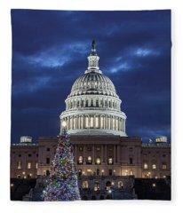 2017 Capitol Tree Fleece Blanket