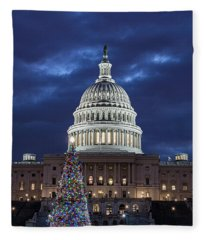 2017 Capitol Tree Fleece Blanket