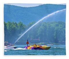 2017 Poker Run, Smith Mountain Lake, Virginia Fleece Blanket