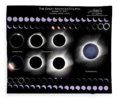 2017 Solar Eclipse Collage Fleece Blanket