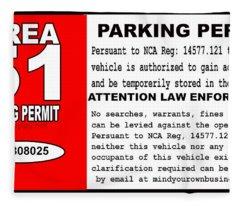 2018 Area 51 Parking Permit Fleece Blanket
