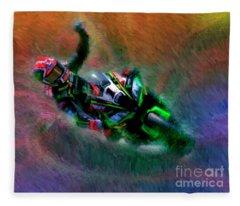 2018 World Superbike Jonathan Rea Victory Punch Fleece Blanket